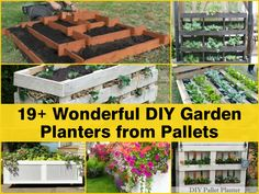 19+ Wonderful DIY Garden Planters From Pallets - http://www.hometipsworld.com/19-wonderful-diy-garden-planters-from-pallets.html