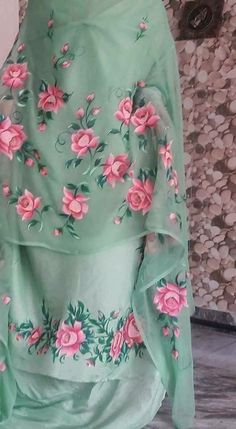 Hand paint suit perfect comfortable cotton silk fabric for summers