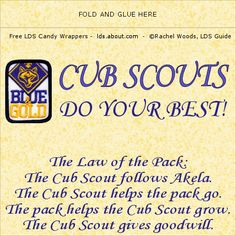 Cub Scouts on Pinterest | Cub Scouts, Chocolate Bar Wrappers and Candy ...