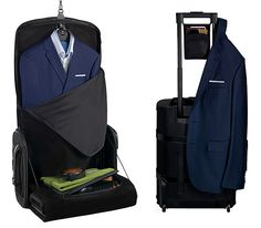 VOCIER C38 Luggage - VOCIER's C38 carry-on won a 2015 IF Design award. Here's why: it unzips & unfolds to an upright position, making it ideal for traveling with suits.