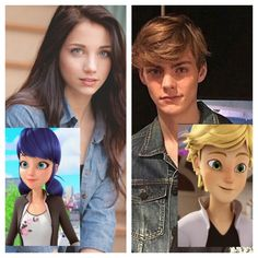 Imagen de marinette, Adrien, and blonde hair