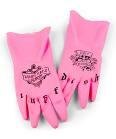 Look at this Fred & Friends Tuff Dish Tattoo Wash Gloves on #zulily today!