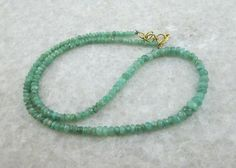 Check out this item in my Etsy shop https://www.etsy.com/listing/215802524/emerald-beads-gemstone-necklace-emerald