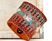 Turquoise Jewelry Cuff Bracelet OOAK via Etsy.