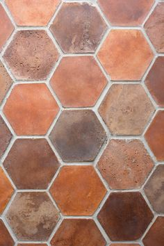 bring on the warmth! Work Triangle, Hexagon Tiles, Spanish House, Perfect Foundation, Eclectic Style, Home Repair, Tile Patterns, Terracotta, Tile Floor