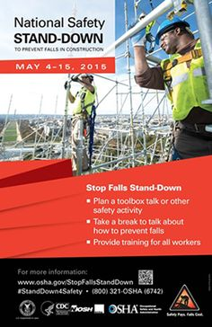 OSHA flyer - Workers Stand Down for Fall Safety