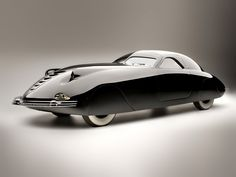 The 1938 Phantom Corsair was a marvel of futuristic design and was shown publicly for the first time in 1938.. Wow.. Designed by Rust Heinz and Maurice Schwartz..