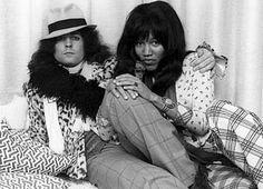Marc Bolan & Glora Jones rock the dandy look....hard!