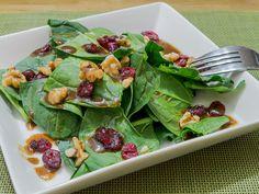 Spinach Salad in a Citrus Balsamic Vinaigrette
