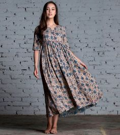 Items similar to Indigo floral maxi on Etsy