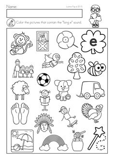 Patrick's Day Math & Literacy Worksheets & Activities No Prep. Color the pictures with the long e sound. Literacy Worksheets, Math Literacy, Early Finishers, Small Groups, St Patricks Day, Classroom, Victoria, Activities, People