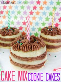 Cake Mix Cookie Cakes