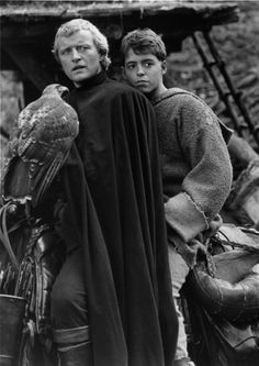 Still of Matthew Broderick and Rutger Hauer in Ladyhawke (1985)