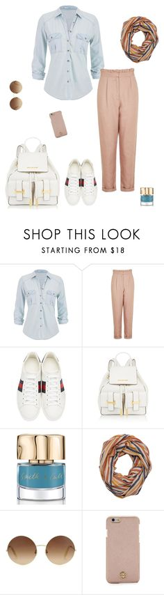 """Untitled #434"" by micha-p ❤ liked on Polyvore featuring maurices, Topshop, Gucci, MICHAEL Michael Kors, Smith & Cult, Ichi, Victoria Beckham and Tory Burch"
