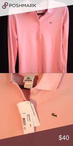 """LACOSTE Women's """"Pique Stretch"""" NWT! Roughly M/L  •• accepting offers! Lacoste Tops Blouses"""