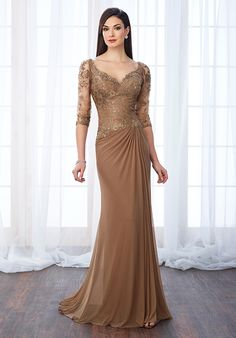 Cameron Blake 217646 Brown Mother Of The Bride Dress