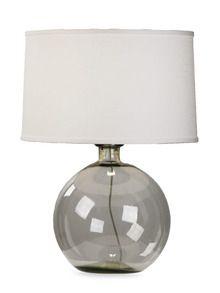 Chic grey glass lamp