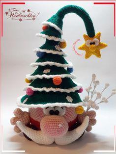 Hallo, Weihnachtsknuffel ist mal eine etwas andere Weihnachtsdeko und man kann ihn auch wunderbar als Weihnachtsbaumersatz verwenden!! Die Anleitung besteht aus 27 Seiten und ist... #CrochetChristmas