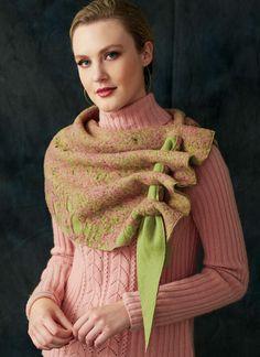 Vogue Sewing Patterns, Clothing Patterns, Clothing Ideas, Knitting Patterns, Nuno Felt Scarf, Felted Scarf, Wool Felting, Nuno Felting, Shrug For Dresses