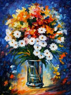 Fascination Artwork By Leonid Afremov Oil Painting & Art Prints On Canvas For Sale Oil Painting Flowers, Oil Painting On Canvas, Flower Paintings, Oil Paintings, Painting Abstract, Painting Art, Watercolor Paintings, Canvas Art, Design Floral