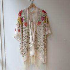 Off-White burnout Gypsy Women Boho Fringe Floral Kimono Cardigan Tassels Beach Cover Up Cape Jacket Black Orange by HippieMassa on Etsy https://www.etsy.com/listing/249357216/off-white-burnout-gypsy-women-boho