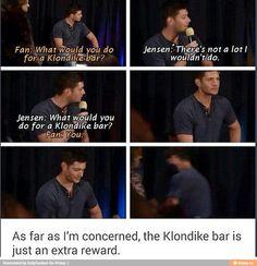 Jensen is waaay better than a Klondike Bar!!!!!!