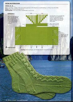 "Photo from album ""Verena Spezial In 80 Socken um die Welt - Teil on Yandex. Knitting Charts, Knitting Stitches, Knitting Socks, Hand Knitting, Knitting Patterns, Mitten Gloves, Mittens, Knit Stockings, Wool Socks"