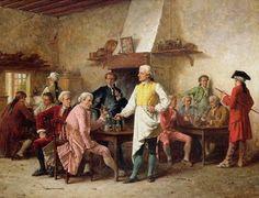 A Gentleman's Debate, 1881 by Benjamin Eugene Fichel