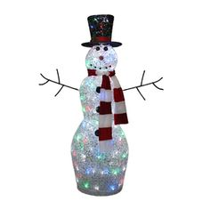 Holiday Living 1-Piece 4-ft Snowman Outdoor Christmas Decoration