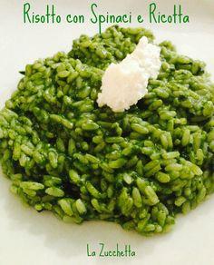 Risotto con spinaci e ricotta - Nuovo post ;) #risotto #spinaci #ricotta