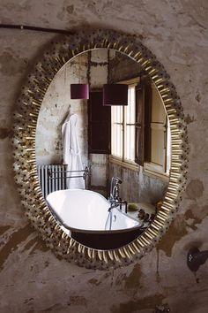 Mirrors – Home Decor : -Read More – Menorca, Luxury Mirror, Custom Mirrors, Beautiful Mirrors, Metal Mirror, Interior Design Inspiration, Home Goods, Studio, Emil