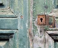 Weathered paint doors