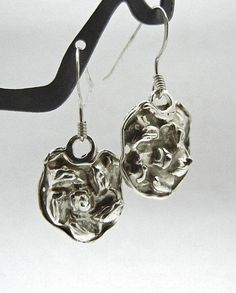Fine Silver Hand Formed Earrings .9999 Pure by BumbleberryJewelry, $20.00 #pure #silver #abstract #earrings
