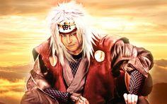 Download wallpapers Naruto, Jiraya, japonese manga, anime characters, Naruto Shippuden