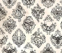 Toile Noir Light fabric by urban_threads on Spoonflower - custom fabric