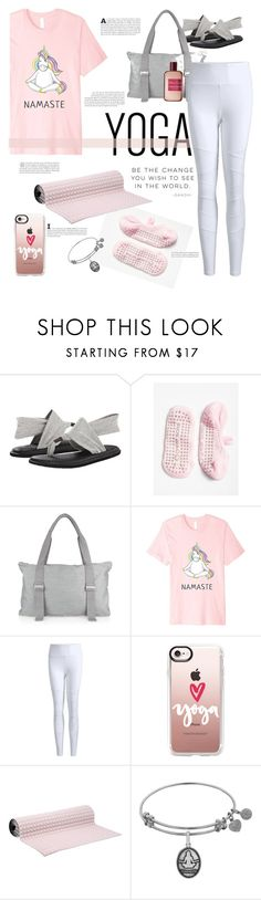 """Namaste"" by streetglamour ❤ liked on Polyvore featuring sanuk, Free People, Alo Yoga, Casetify, No Ka'Oi, Atelier Cologne and yoga"