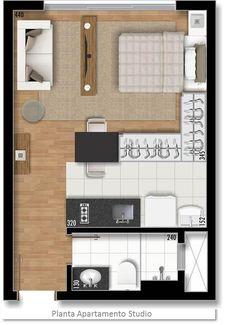 Ideas For Bedroom Loft Ideas Tiny Apartments Studio Layout Small Apartment Plans, Studio Apartment Floor Plans, Studio Apartment Layout, Studio Layout, Micro Apartment, Small Apartment Design, Tiny Apartments, Tiny Spaces, Small House Plans