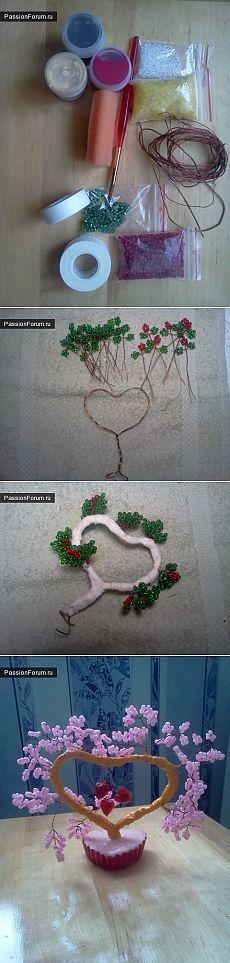 Дерево любви из бисера. / Для любимых с любовью / PassionForum - мастер-классы по рукоделию