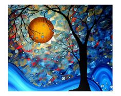 Blue Essence Giclee Print by Megan Aroon Duncanson at Art.com