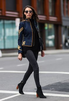 Catch Up on All of NYFW's Best Street Style From Last Season Day 1 Thania Peck