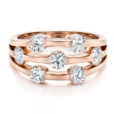 Custom Rose Gold and Diamond Engagement Ring | Joseph Jewelry | Bellevue | Seattle | Designers of Fine Custom Jewelry