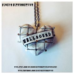 Hellbound Hellraiser Pinheart Necklace by AlternativeJewellery