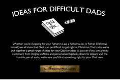 "SUB: ""Ideas for difficult dads"" - Fare regali ai papà non è facile, Oliver Sweeney ha sicuramente fatto centro :-)"