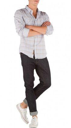 Shirt, jeans, converse