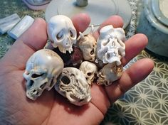 skulls made by Japanese skull Artist HATTORI