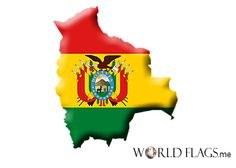 flag map - Bolivia
