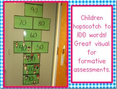 This is a great way to track which students can count to 100.