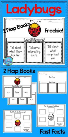 Freebie! Have your children research Ladybugs! This product includes three ways for your children to share what they have learned in writing  Two Ladybug Flap Book Choices – Pick your favorite to use! (color and black and white)  Ladybugs: can, have, are Ladybugs: Tell about what they look like, Tell some interesting facts, Tell about what surprised you. Ladybugs Fast Facts (color and black and white)