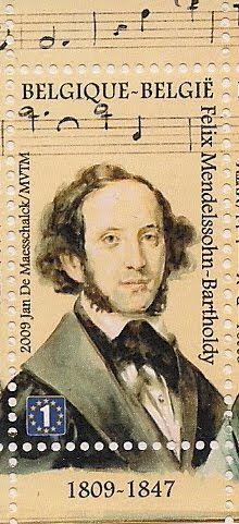 Stamps of Felix Mendelssohn
