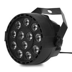 Portable Mini LED Stage Lights 18 RGB PAR LED DMX Stage Lighting Effect Projector DMX512 Led Flat Dj Disco KTV Party Lighting